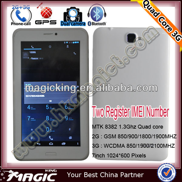 2014 Low cost 7 inch tablet pc with 3g mobile phone function
