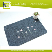 2016 Chinese handmade door home fashion dress TPR floor mat price