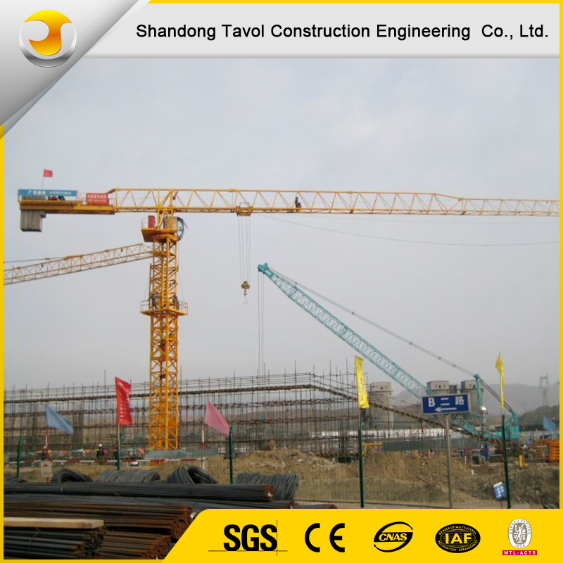 Model 5610 with 6 ton 50 m Boom Length Construction Topless Tower Crane