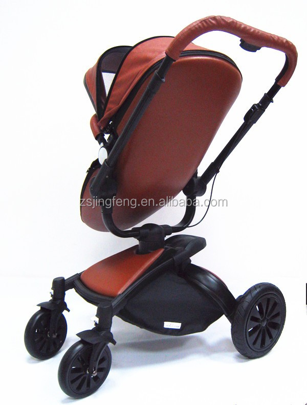 2016 New Baby Product High Quality Baby Pram Factroy Price And Fashion Leather European Styles Baby Stroller 3 in 1