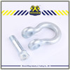 High Tensile 209 anchor shackles , stainless steel shackle