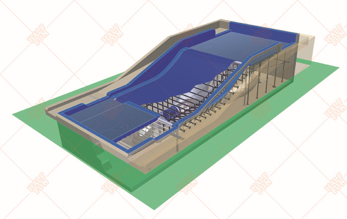 2015 promotional high quality surf wave pool