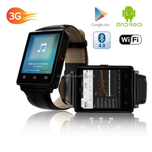 CE RoHS 1.63 Inch Smart Watch D6 Android 5.1 MTK 6580 Quad Core Wifi 3G Smartwatch Phone