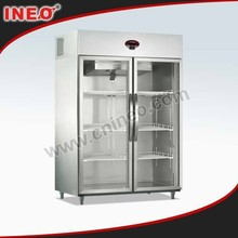 Restaurant Upright Showcase Freezer/Commercial Used Glass Door Display Freezers/Vertical Display Freezer