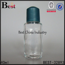 Global hot-the new fashion cheap clear glass containers/bottles-plastic cap with roll on new york down highway wholesale perfume