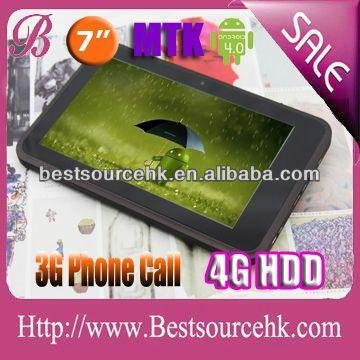 Android tablet pc sale best buy with 7 inch 2g/3g build-in phone call GPS bluetooth dual sim card