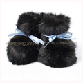 CX-SHOES-07B Fashion Real Rabbit Fur Baby Shoes
