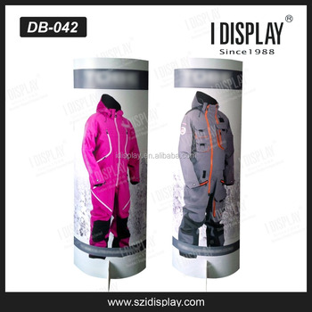 Pop display custom cardboard display cutout standee for clothes