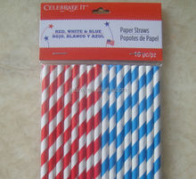 HY brand paper straw 100% food material made with many colors to choose striped paper straws