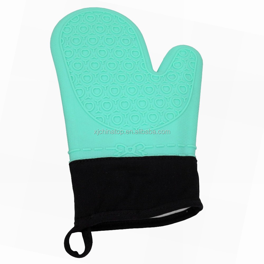 "JK18088P Silicone Oven glove with cotton inner lining, 11.5""/29.5cm Long"