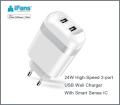 New Europe 2-Port USB Wall charger universal for cell phone and iPad tablet ,CE,ROHS,FCC certified