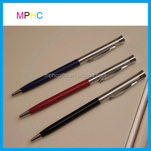 Office and School Use Metal ballpoint Pens Twist Action Ball Pen Slim body