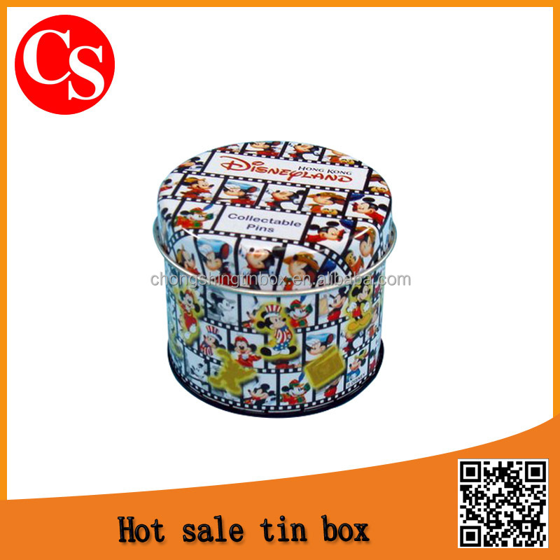 Round exquisite tin boxes fashion tin can