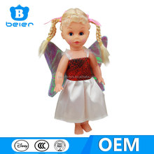 Hot selling cute 12 inch vinyl babie doll for children playing, baby doll with clothes from China toy factory