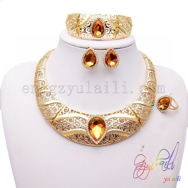 South american jewelry 18k gold plated channel jewelry china wholesale