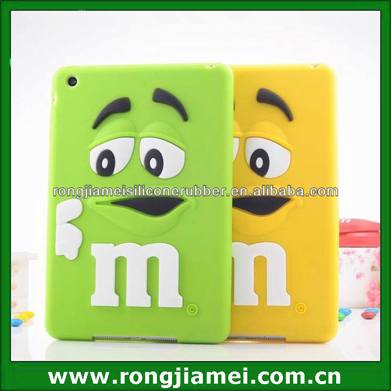NEW Fashion 3D Cute Lovely Pattern Soft Silicon Case Cover for Apple ipad mini