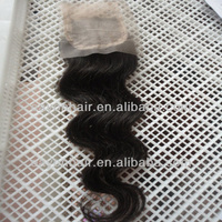 silk base Lace closure, 14 inch high quality peruvian hair body wave 4x4 inch silk top lace closure free style free shipping