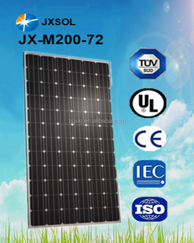 alternative energy solar panel PV solar mono 200 watt solal module with high efficiency cheapest price