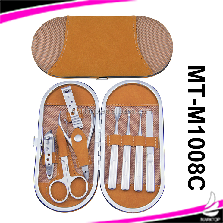 8PCS oval shape stainless steel Manicure set