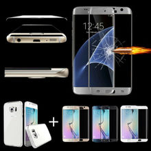 For Samsung Galaxy S6/S7 Edge/+ Full Cover Tempered Glass Screen Protector+ TPU Case
