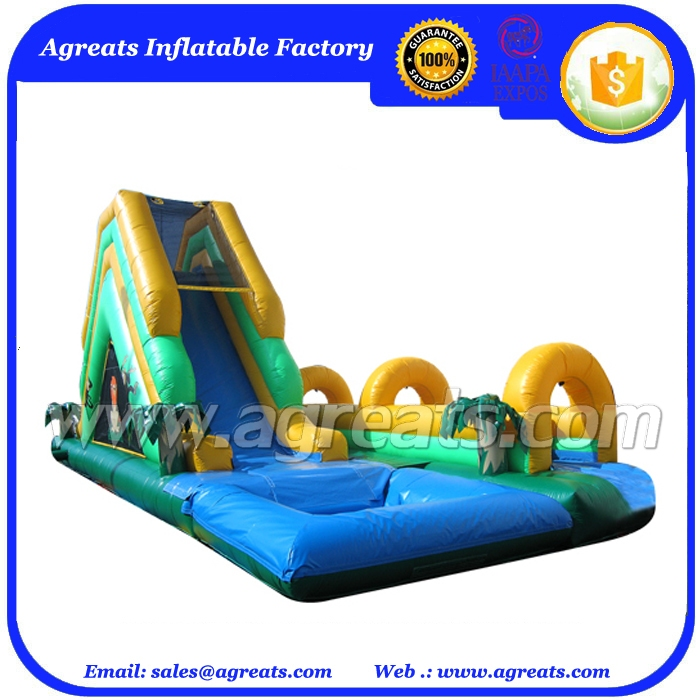 Hot commercial large inflatable water slide with pool G4007