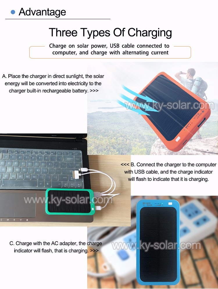 mini solar portable power bank charger 2017 New