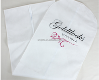 promotional white non woven printed dust cover for long dress