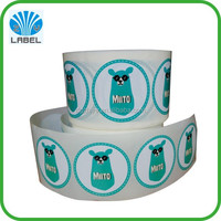 high quality cmyk sticker printing with strong adhesive,fancy color stikcer roll with your own logo