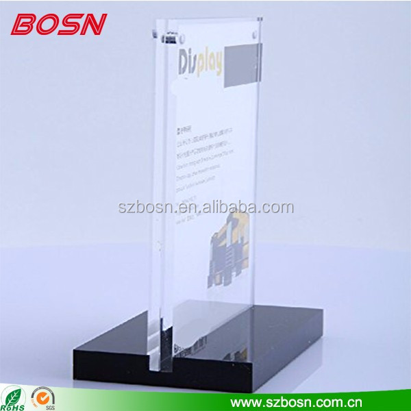 2016 landscape slanted sign holder perspex table tent stand plexiglass menu card holder wholesale