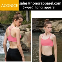 wholesale fashionable Yoga Fitness Latest Design Gym Clothes Wholesale Yoga Bra For Women