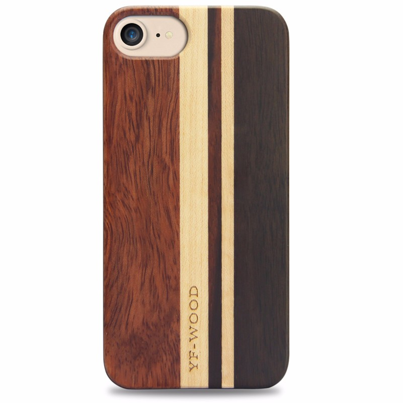 YFWOOD Colorful Original Wooden Phone Case Patent TPU Wood Case For <strong>iPhone</strong> 8