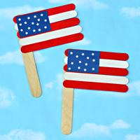 Ice Cream Craft Wooden Flag Stick