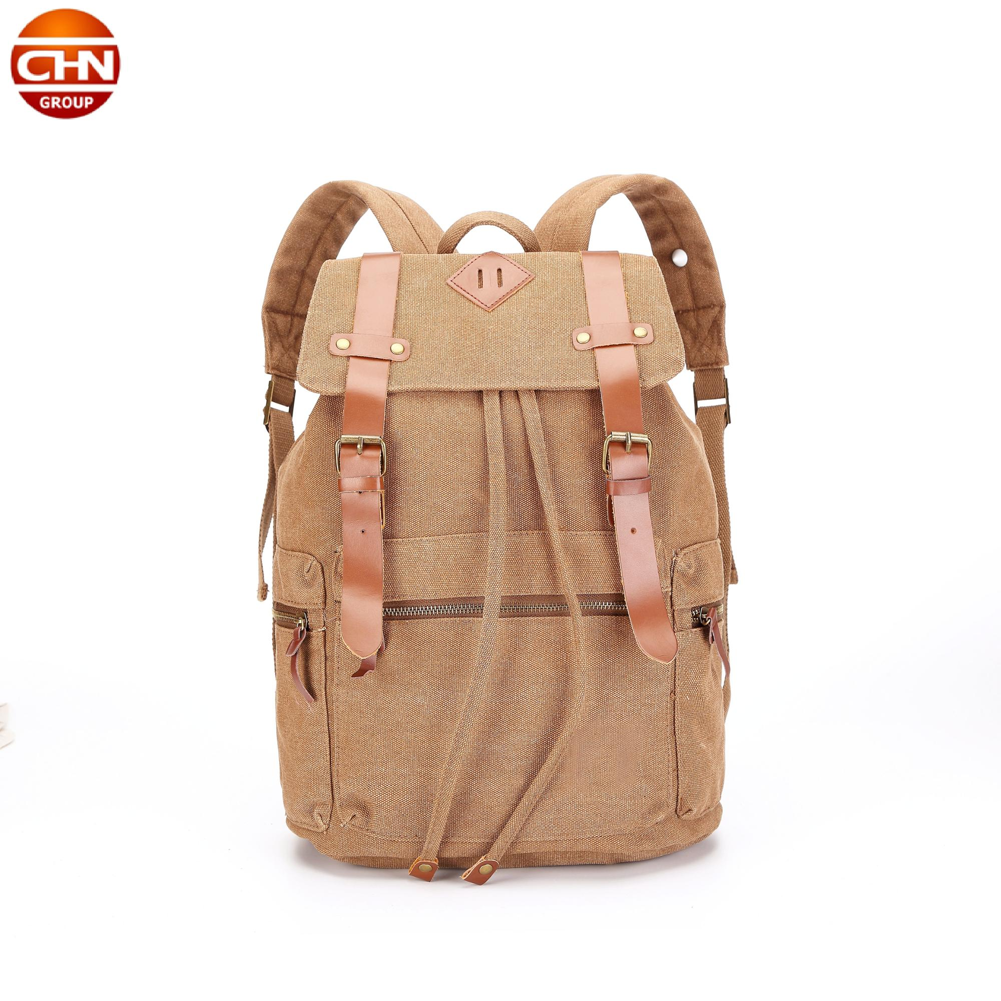 Fashion Cotton Canvas Backpack Drawstring travel backpack school bags trendy backpack 2018