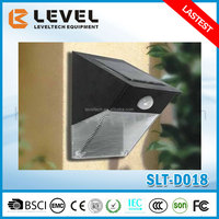 Outdoor High Lumen 12pcs Supper Brightness LED Integrated Outdoor Solar Wall Light With Motion Sensor