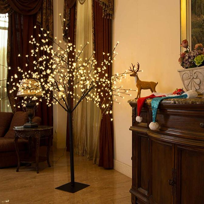 Ropio Collapsible Christmas Outdoor Lighting Artificial Cherry Blossom Led Tree With Light Buy Artificial Trees Cherry Blossoms Artificial Cherry
