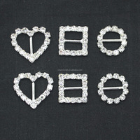 crystal rhinestone ribbon buckle with DIY Jewelry for wedding decoration and clothes