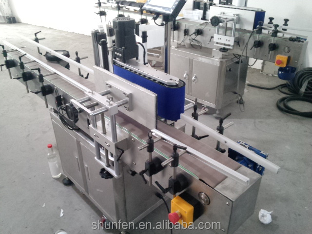 PLM-D Automatic Round Bottle Labeling Machine with Conveyor Production Line