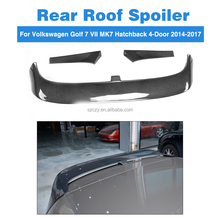 3pcs/set Golf7 Clubsport Style GTI Carbon Fiber Rear Wing Spoiler for Volkswagen Golf 7 VII MK7 Hatchback 4-Door
