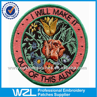 China supplier flower patches for coats, Dresses embroidery patches designs