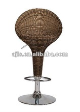 high back rattan seat bar chair