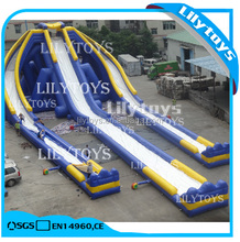 large water hippo slide inflatable trampoline,outdoor water slide,CE inflatable water slide
