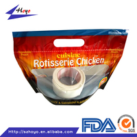 plastic ziplock bag for chicken packing/microwaveable chicken bags/anti-fog plastic bag