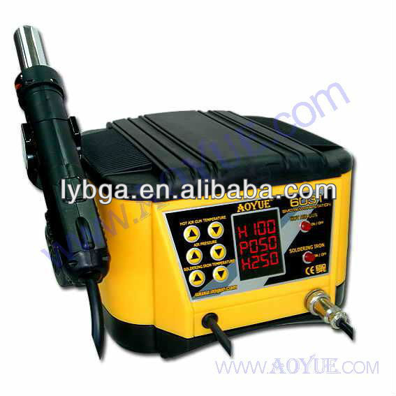 SMD soldering station hot air gun and soldering iron 2 in 1 Aoyue 6031