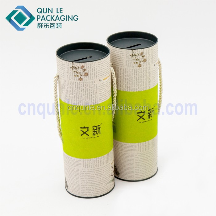 2017 Creative Cylinder Paper board Golf Ball Packaging Box Wholesale