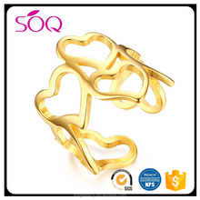 2017 Hot Sale Latest Elegant Design Wedding Jewelry Gold Ip Plated Stainless Steel 1 Gram Gold Ring
