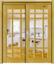 hot sale pvc bathroom french doors Big Five Dubai Exhibition texture door China manufacturer Youbang wood door