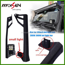 "Morsun Jeep JK Wrangler upper Windshield Mount Light Brackets for 50"" 288w LED light bar"