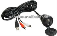 Newest USB 3.5mm AUX Car Audio/Data/Charger Cable for iPad/iphone4G