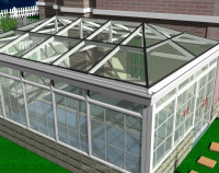 Brilliance high quality extrude aluminium frame glass house