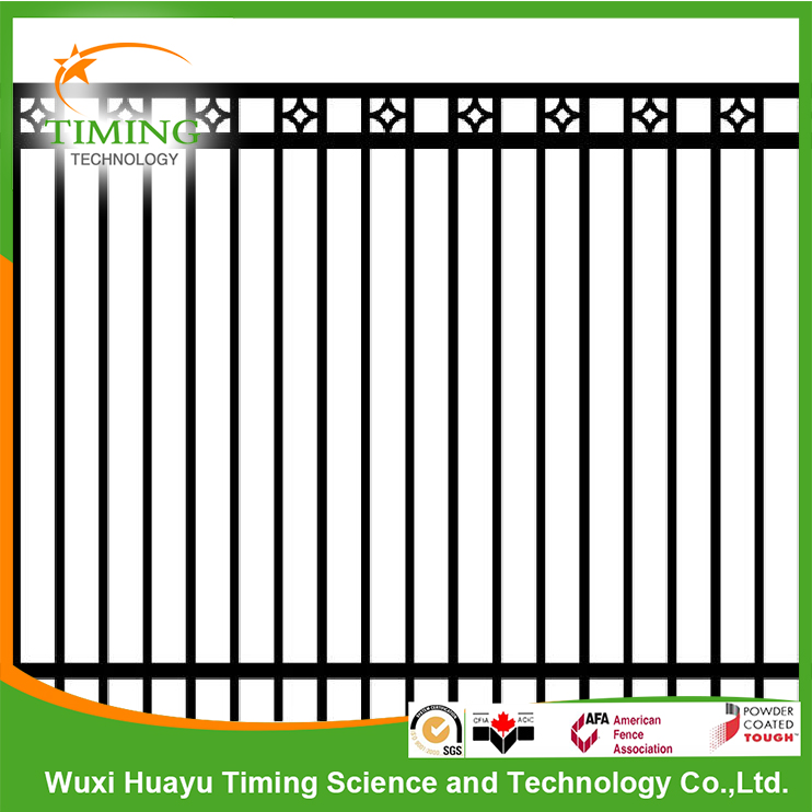 hot-dipped galvanized powder coated flat top iron fence price